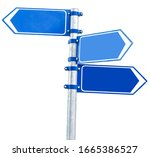Different Direction Blank Blue...