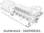 diesel generator. the layers of ... | Shutterstock .eps vector #1665406261