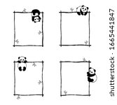 Set Of Little Cute Panda Vector ...
