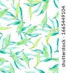 bright lemon leaves on white.... | Shutterstock . vector #1665449104