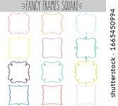 fancy decorative blank square... | Shutterstock .eps vector #1665450994