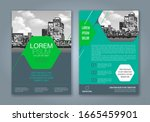 abstract minimal geometric... | Shutterstock .eps vector #1665459901