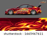 car wrap design concept with... | Shutterstock .eps vector #1665467611