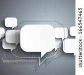 floating speech bubble... | Shutterstock .eps vector #166547465