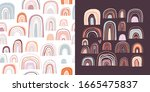 childish set with seamless...   Shutterstock .eps vector #1665475837