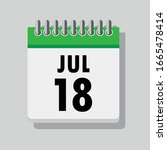 Spiral Calendar Page With...