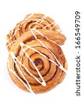 Cinnamon Danish Isolated On...