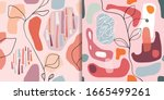 abstract seamless patterns set... | Shutterstock .eps vector #1665499261
