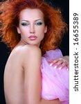 the portrait of femme fatale | Shutterstock . vector #16655389