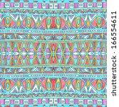 seamless geometric pattern in... | Shutterstock . vector #166554611
