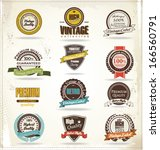 vintage styled premium quality | Shutterstock .eps vector #166560791