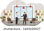 successful deal. businessmen... | Shutterstock .eps vector #1665630427