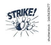 vintage style clip art   strike ...   Shutterstock .eps vector #1665635677