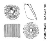 set of vector abstract handmade ...   Shutterstock .eps vector #1665635701