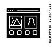 web pages black icon  concept...