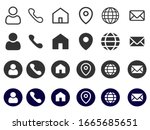 common contact icons list and...   Shutterstock .eps vector #1665685651