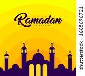 flat ramadan web banner...