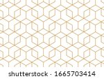 the geometric pattern with... | Shutterstock . vector #1665703414