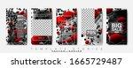 story template for social media ... | Shutterstock .eps vector #1665729487