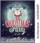 Christmas Poster With Santa....