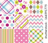 Stock vector set of patterns 166591775
