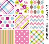 set of patterns   Shutterstock .eps vector #166591775