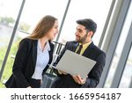 young business partners... | Shutterstock . vector #1665954187