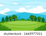 nature landscape background...   Shutterstock .eps vector #1665977311