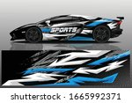 sports car wrapping decal design   Shutterstock .eps vector #1665992371