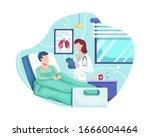 doctor check patient health... | Shutterstock .eps vector #1666004464