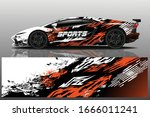sports car wrapping decal design | Shutterstock .eps vector #1666011241