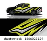 truck car wrapping decal design | Shutterstock .eps vector #1666023124