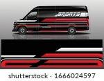 van car wrapping decal design | Shutterstock .eps vector #1666024597