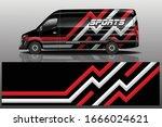 van car wrapping decal design   Shutterstock .eps vector #1666024621