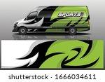 van car wrapping decal design   Shutterstock .eps vector #1666034611