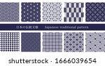 japanese traditional pattern... | Shutterstock .eps vector #1666039654