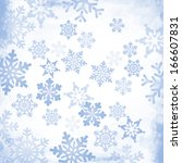 abstract christmas snowflake... | Shutterstock .eps vector #166607831