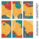 summer vector set of social... | Shutterstock .eps vector #1666097827