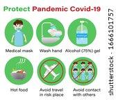 coronavirus or covid 19... | Shutterstock .eps vector #1666101757