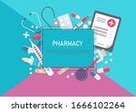 medicine vector illustration.... | Shutterstock .eps vector #1666102264