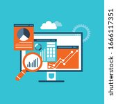 business analytics and... | Shutterstock .eps vector #1666117351