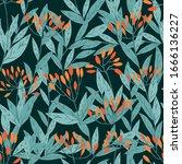 seamless pattern hand drawn... | Shutterstock .eps vector #1666136227
