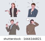 business people in suits... | Shutterstock .eps vector #1666166821