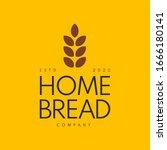 home made bread symbol  organic ... | Shutterstock .eps vector #1666180141
