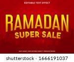 ramadan sale text effect...   Shutterstock .eps vector #1666191037