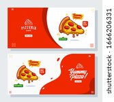 pizza pizzeria flyer vector set ...