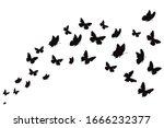 vector silhouette of... | Shutterstock .eps vector #1666232377