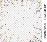 festive confetti. celebration... | Shutterstock .eps vector #1666236184