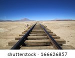 Railway Through Uyuni Salt...