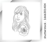 linear  contour drawing of the... | Shutterstock .eps vector #1666301404